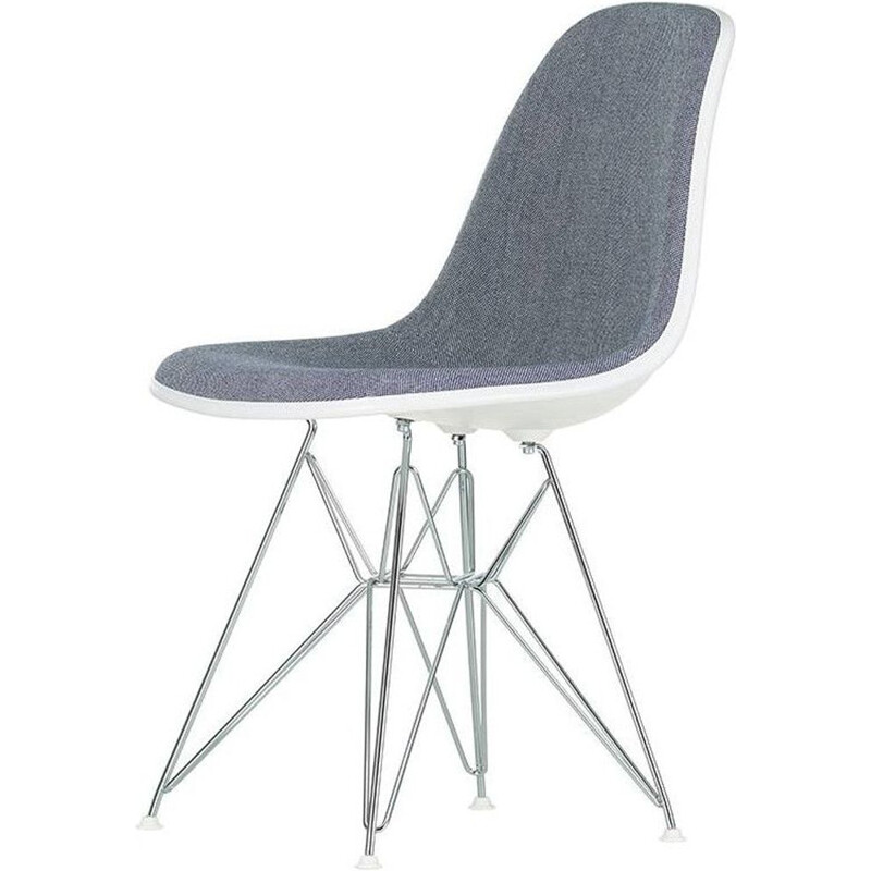 """Plastic Chair DSR"" with full upholstery by Charles and Ray Eames for VITRA"