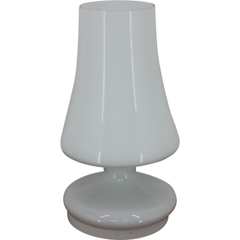 Vintage lamp in white opaline glass by Stefan Tabery