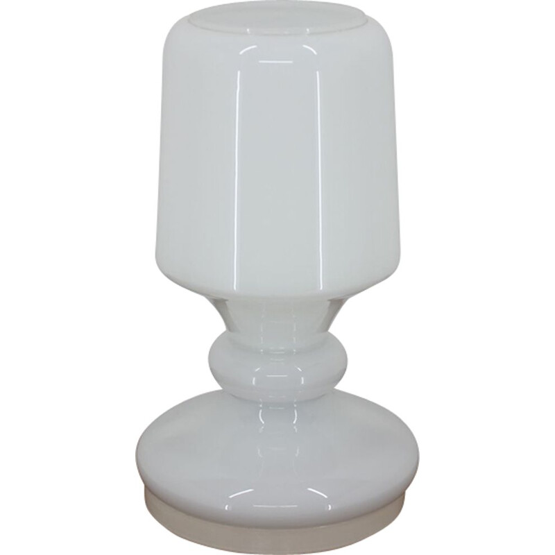 Vintage all glass table lamp, Stefan Tabery, 1970