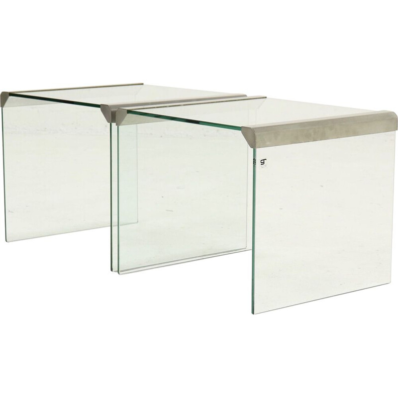 Set of 2 vintage Gallotti and Radice side tables Italian Design