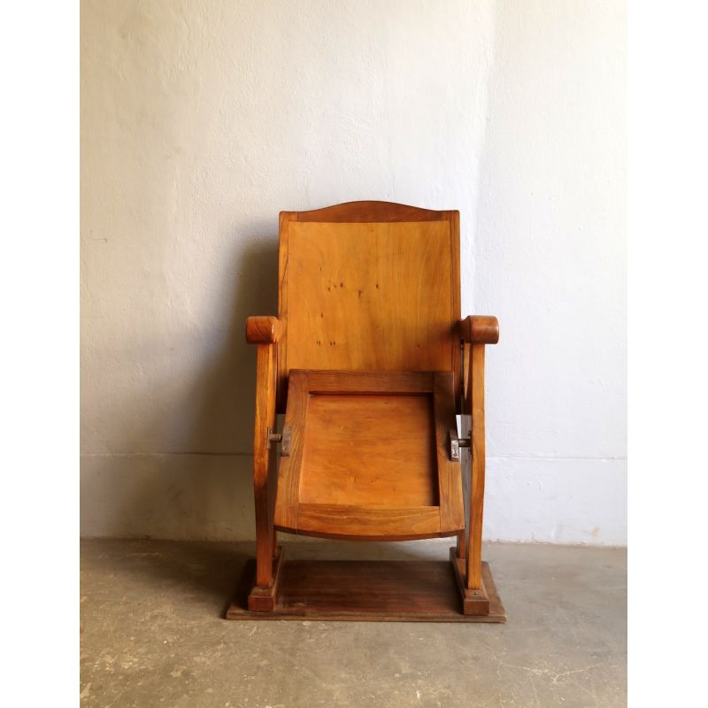 Awe Inspiring Vintage Folding Theatre Chair From The 30S Caraccident5 Cool Chair Designs And Ideas Caraccident5Info