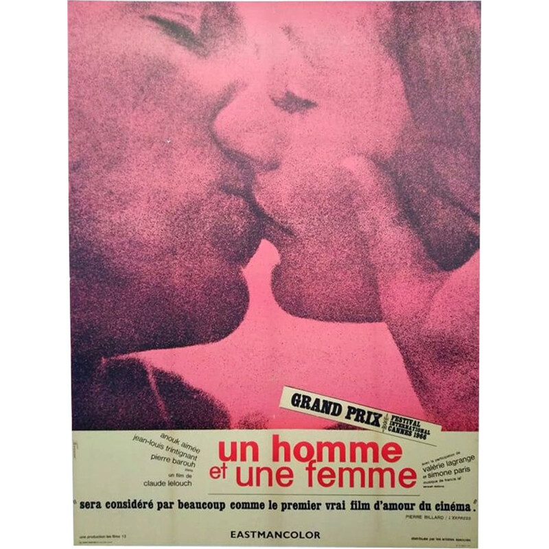 Vintage original poster a man and a woman 1st print 1966