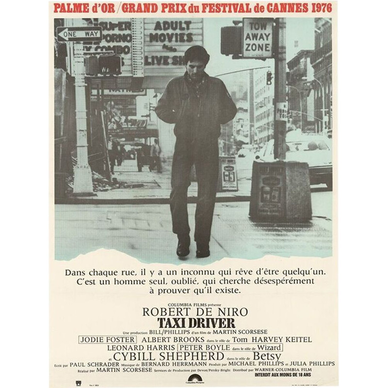 Vintage original poster 1st draw taxi driver