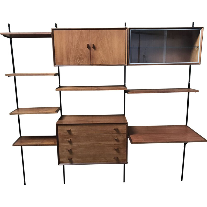 Vintage teak wall library 2 in 1 from 1960