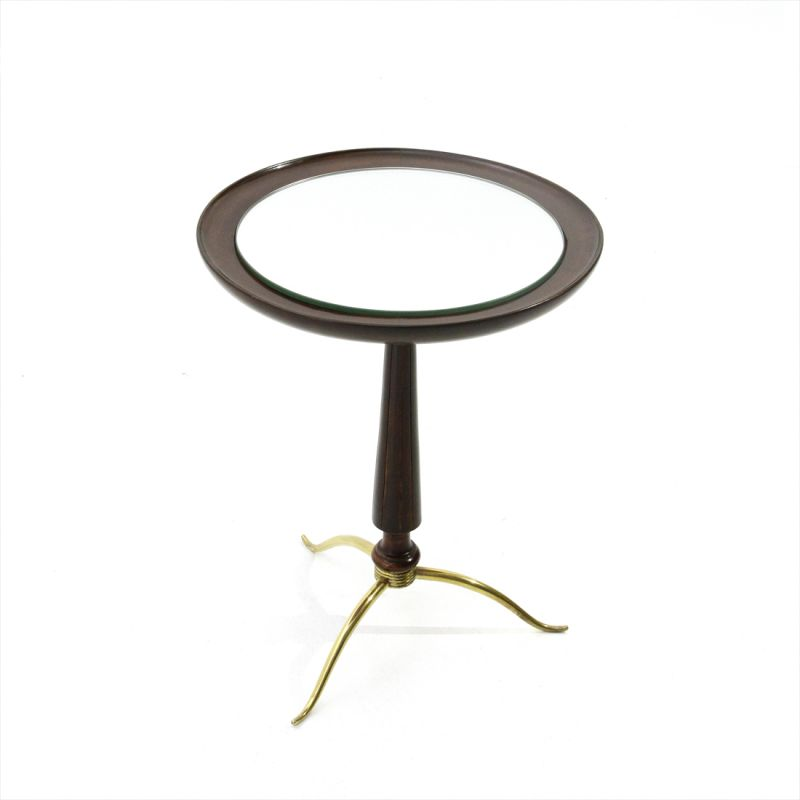 Brilliant Vintage Side Table In Brass And Wood Italy 1940S Download Free Architecture Designs Lukepmadebymaigaardcom