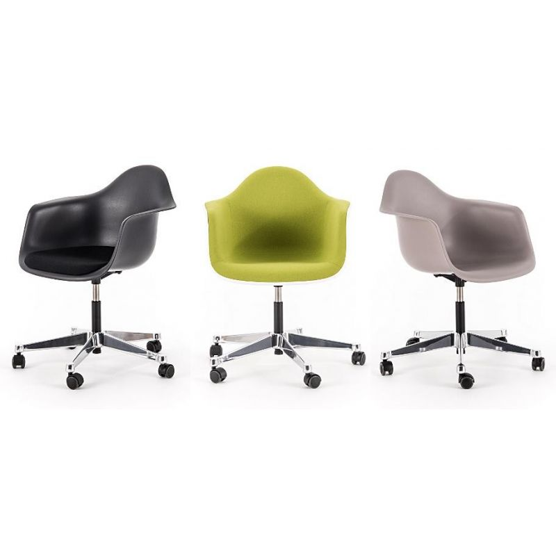 Plastic Armchair Pacc Desk Chair With Full Upholstery By Charles And Ray Eames For Vitra Design Market