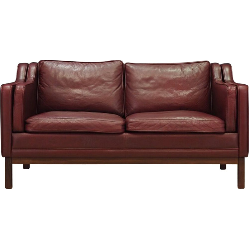 Vintage 2 seater sofa in leather from the 70s