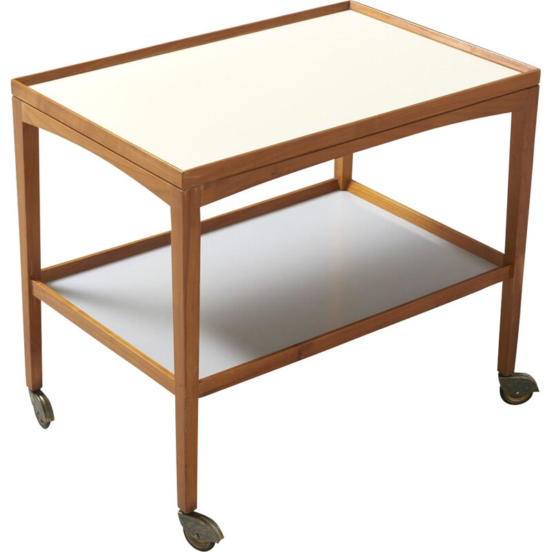 Vintage trolley in beech from the 50s