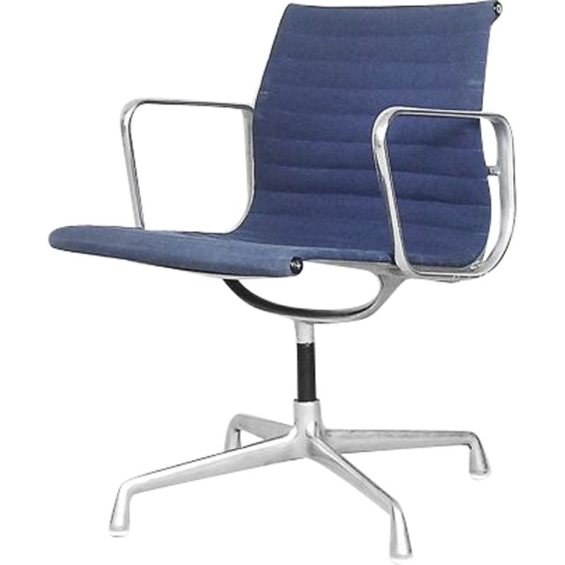 Vintage EA 108 office aluminum chair by Charles & Ray Eames for Herman Miller