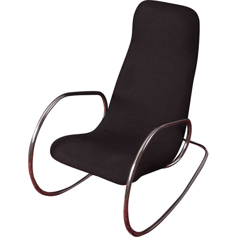 Vintage rocking chair by Ulrich Böhme for Thonet 1970s
