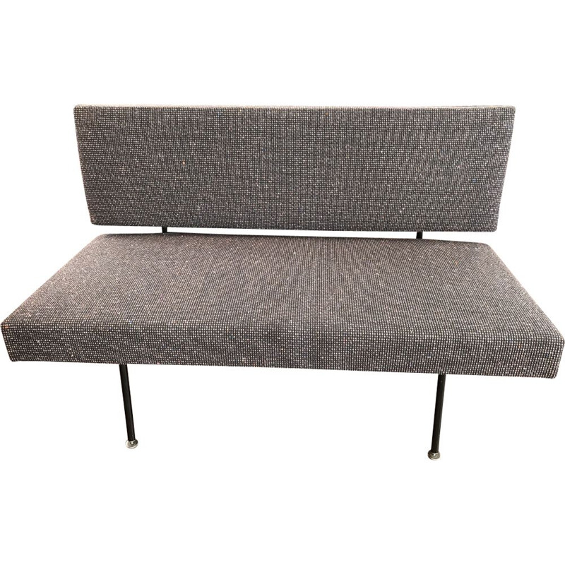 Vintage living room set, bench and 2 arcmhairs by Florence Knoll, Knoll edition
