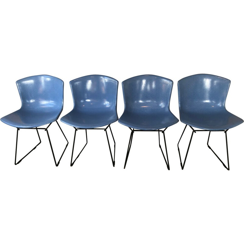 Set of 4 vintage chairs by Harry Berteia, Knoll edition 1960s