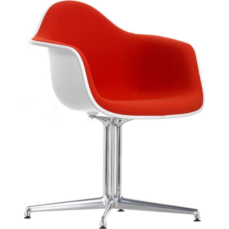 """Plastic Armchair DAL"" with full upholstery by Charles and Ray Eames for VITRA"