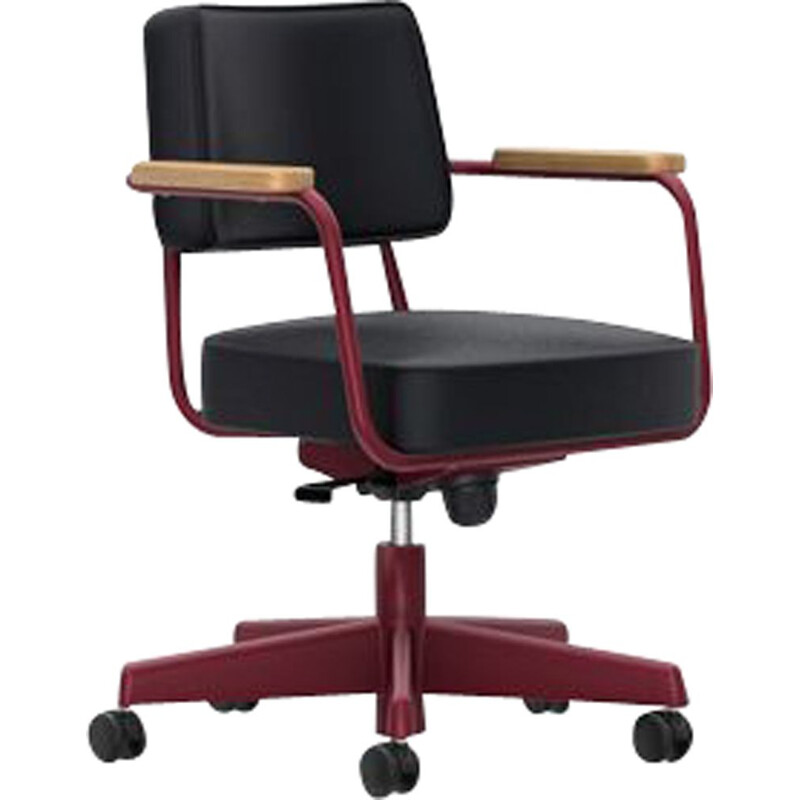 """Direction Pivotant"" desk chair in leather by Jean Prouvé for VITRA"