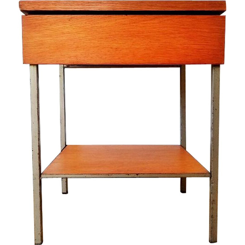 Vintage oak bedside table 1950