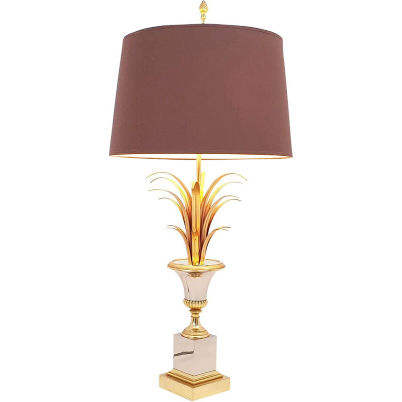 Lampe de table palmier style hollywood regency par Boulanger