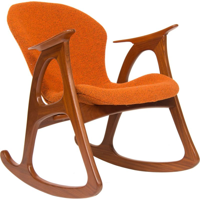 Vintage rocking chair by Aage Christiansen for Erhardsen Andersen