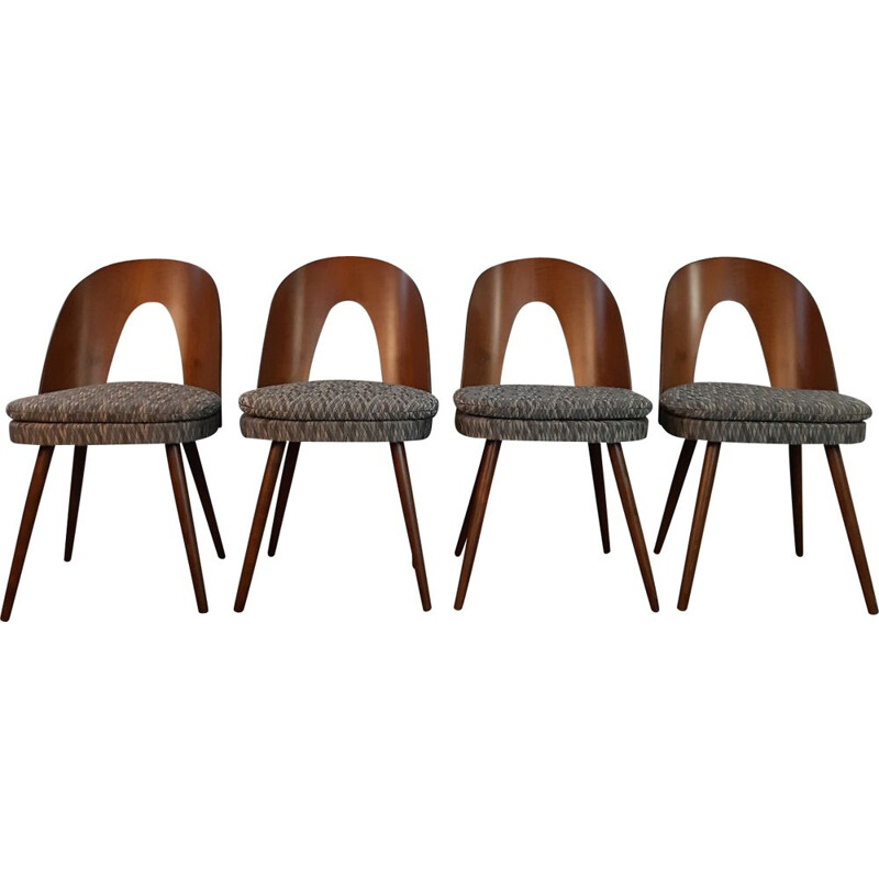 Set of 4 vintage dining chairs by Antonin Suman for MIER,Czechoslovakia,1960