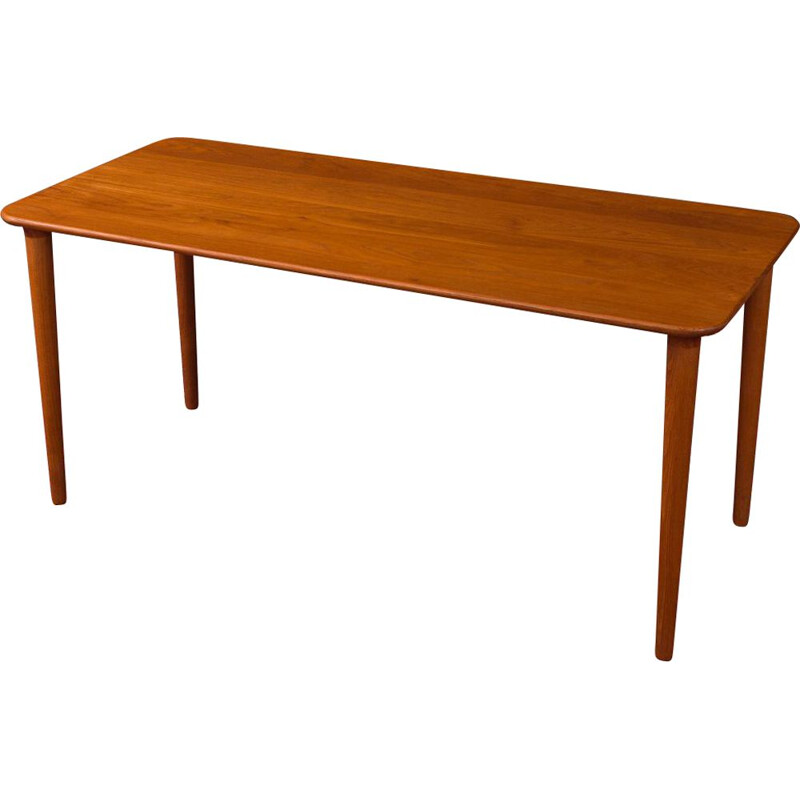 Vintage teak coffee table by Gustav Bahus 1960s
