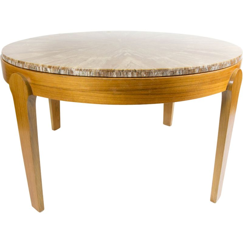 Round Coffee Table With Stone Top 9