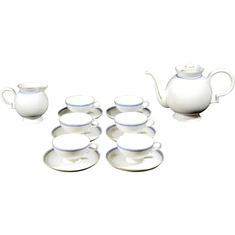 Vintage porcelain tea set by Gio Ponti for Richard Ginori,1930