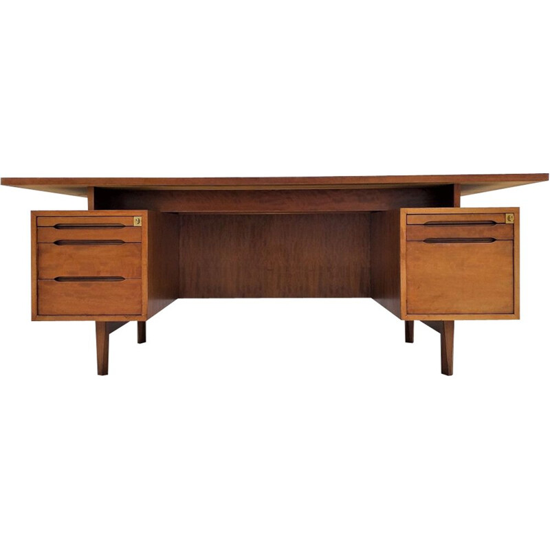 Large vintage rosewood desk 1960