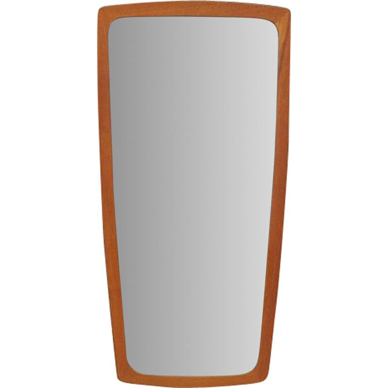 Vintage mirror in teak Scandinavian 1960-70s