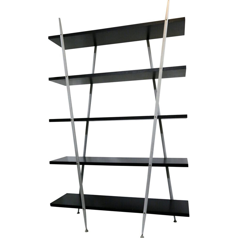 Vintage black and grey shelf from the 80s