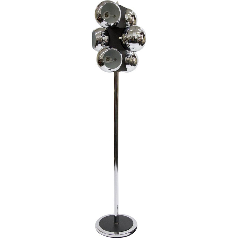 Vintage american chrome-plated floor lamp 1960s