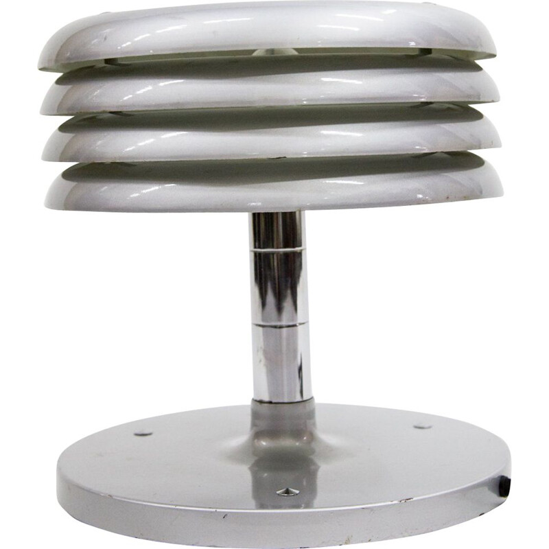Vintage table lamp by Nádai Tibor in iron and aluminium 1960s