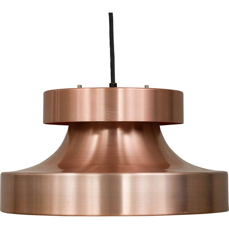 Vintage scandinavian pendant lamp in copper and aluminium 1970s