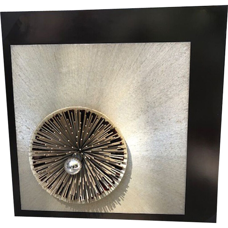 Vintage wall lamp sculpture Radiate by Otello Ciulinni 1975s