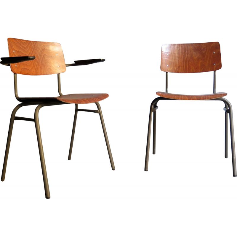 Pleasant 2 Industrial Vintage Dining Chairs From The 50S Alphanode Cool Chair Designs And Ideas Alphanodeonline