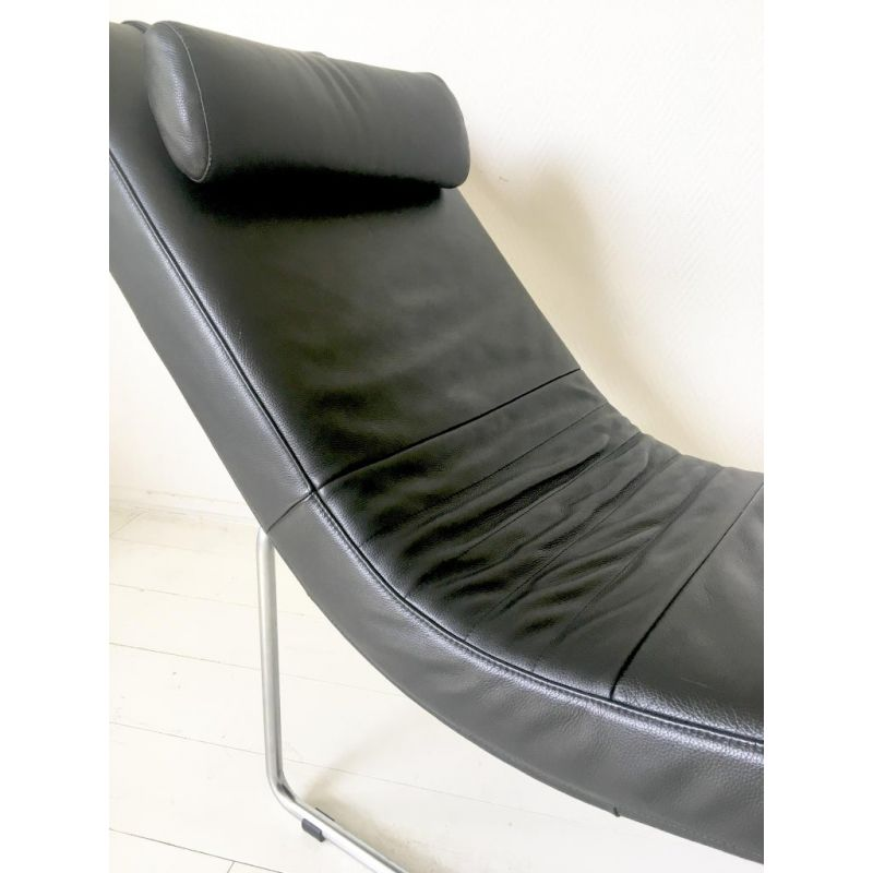Excellent Vintage Lounge Chair By Rolf Benz In Black Leather And Metal 1980S Pabps2019 Chair Design Images Pabps2019Com