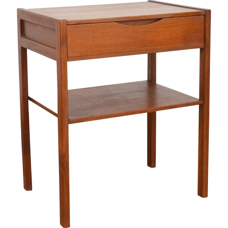 Vintage scandinavian nightstand in teakwood 1960s