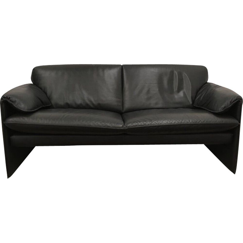 Vintage model Bora Bora sofa for Leolux in black leather 1980s