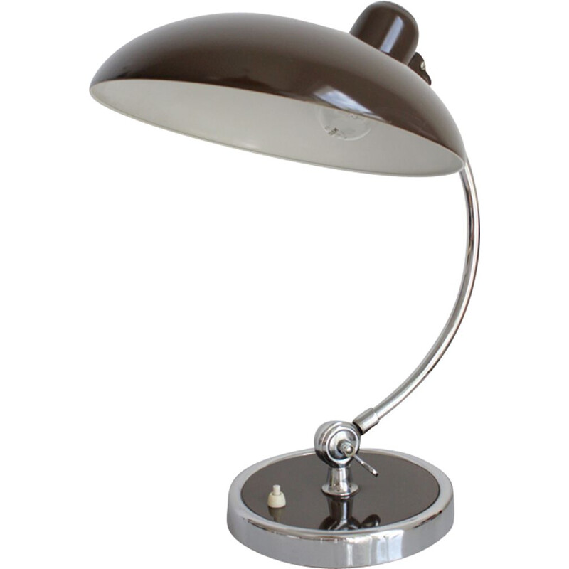Vintage brown lamp model 6631 for Kaiser Idell in brown metal 1940