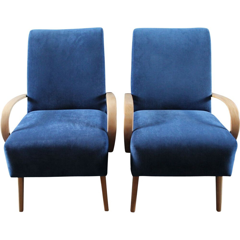 Vintage set of 2 armchairs by Jaroslav Smidek for TON 1960