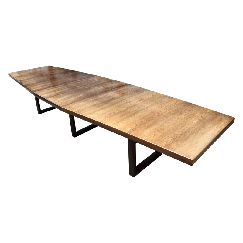 Large vintage conference table 1970s