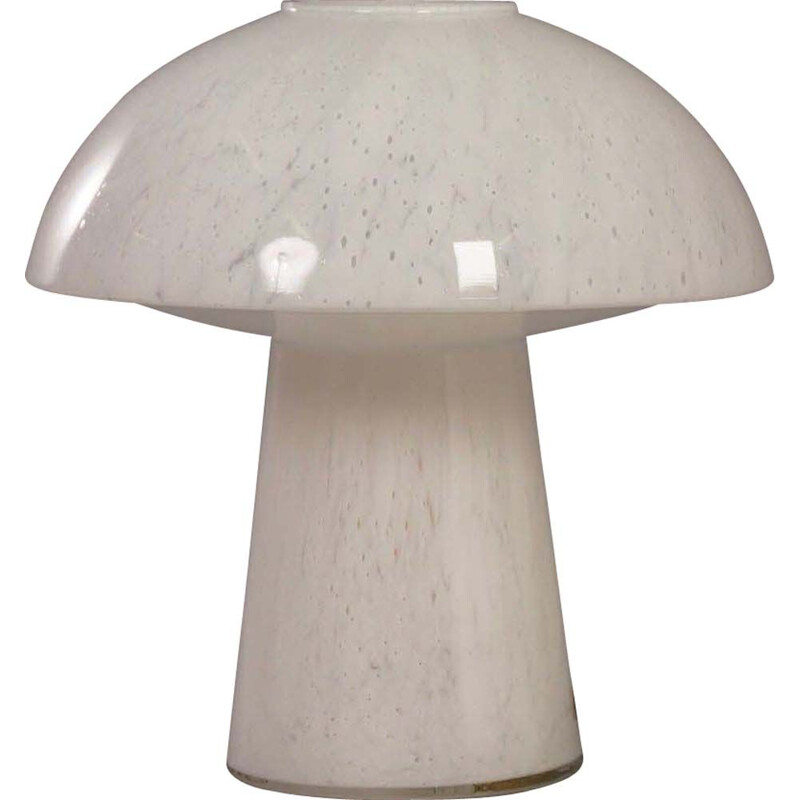 Vintage Mushroom lamp for Glashütte Limburg Leuchten in opal glass 1970s