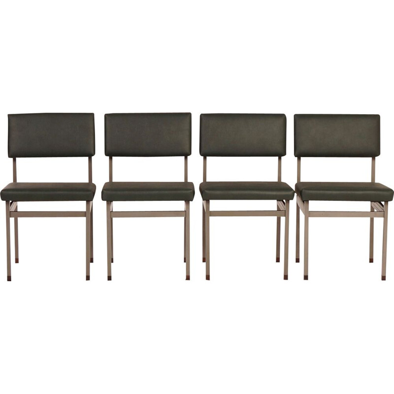 Set of 4 vintage dining chairs Pali by Louis van Teeffelen for Wébé, 1960s