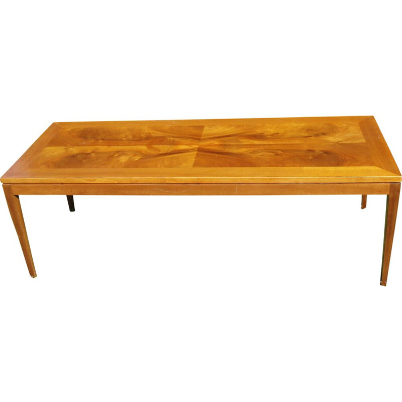 Vintage coffee table mahogany France 1970s