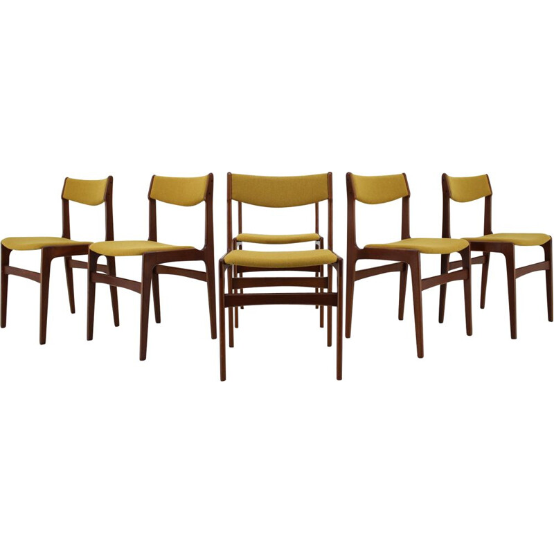 Set of 6 vintage teak dining chairs 1960s