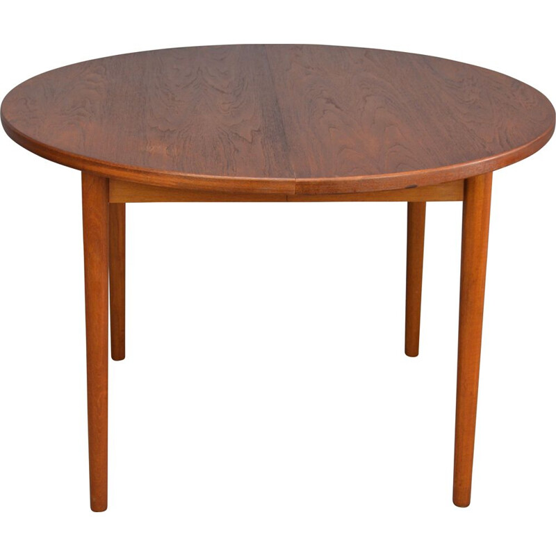 Vintage round table in teak by Nils Jonsson for Troeds
