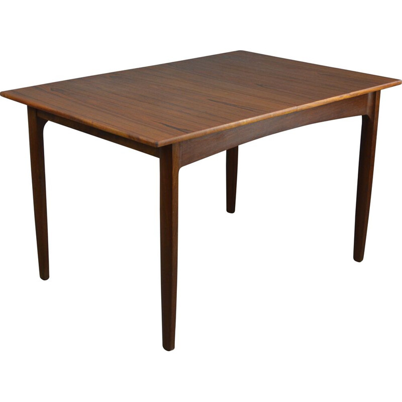 Vintage rectangular dining table in teak