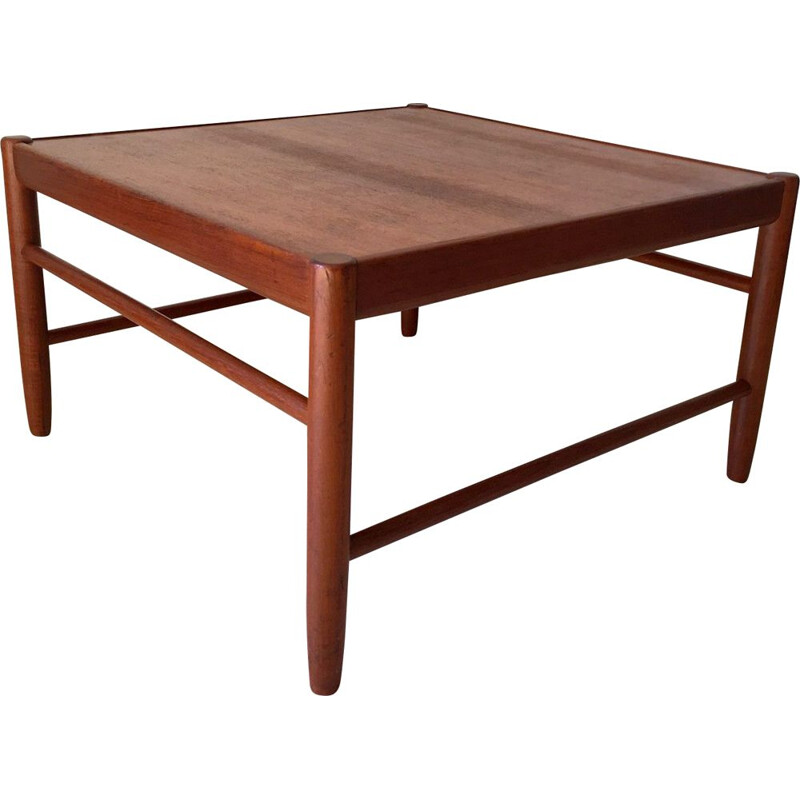 Scandinavian vintage coffee table by Alf Svensson for Bodafors in teak 1960s