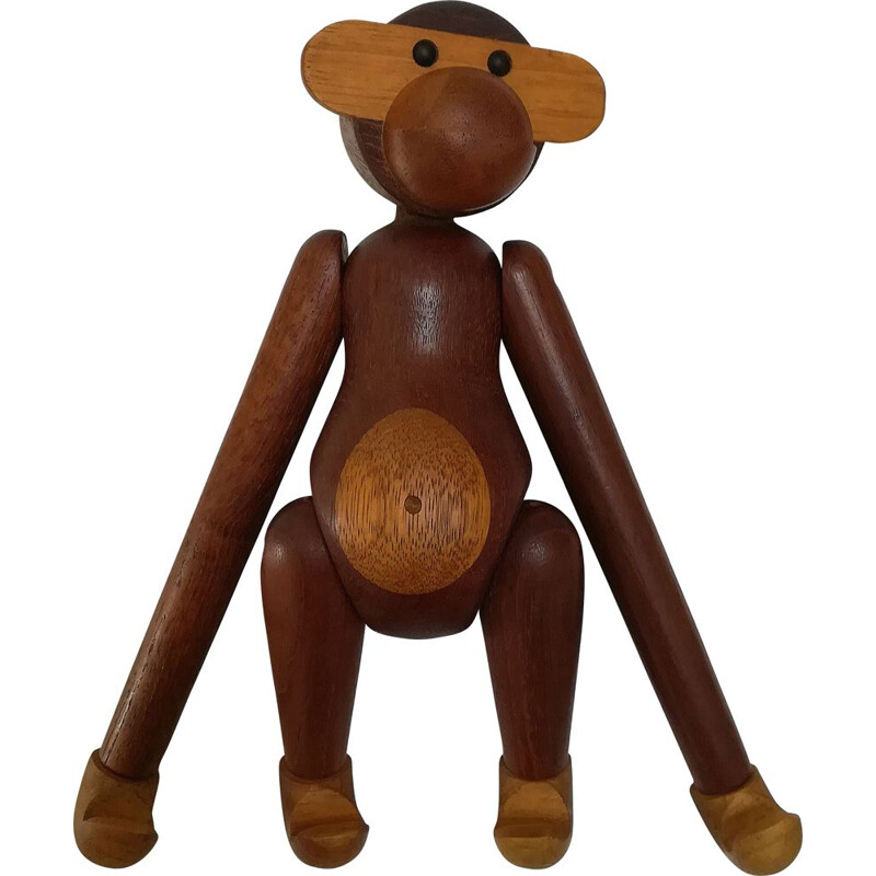 Vintage Kay Bojesen monkey in teakwood 1960