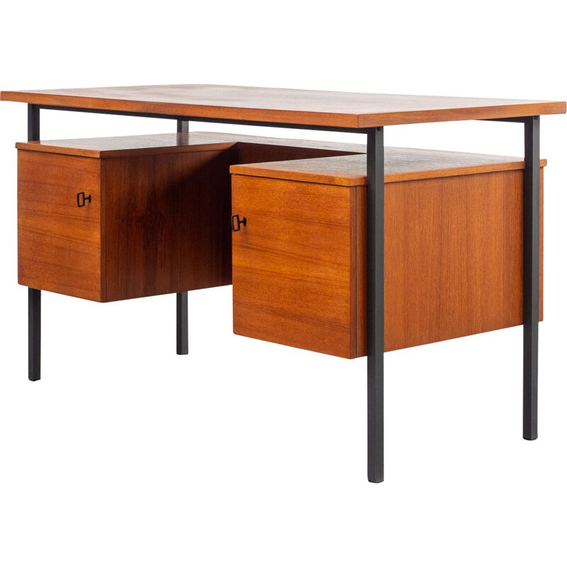 Vintage desk in teak cubical 1960s