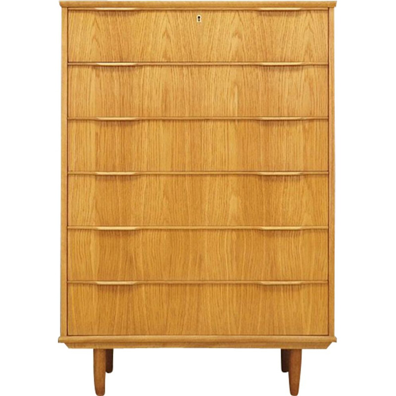Vintage danish chest of drawers in ahswood 1970s