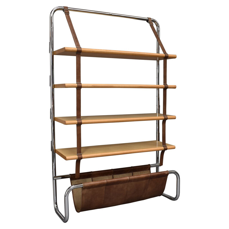 Jumbo Line vintage bookcase by Luigi Massoni for Poltrona Frau